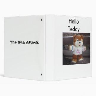 Hello Teddy Vinyl Binders