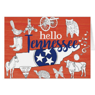 Hello Tennessee Card