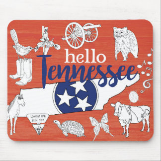 Hello Tennessee Mouse Pad