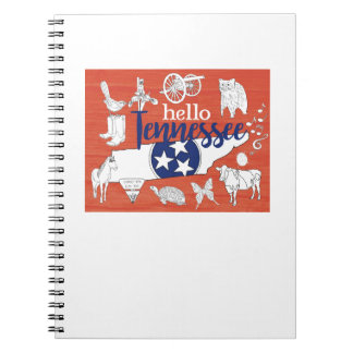 Hello Tennessee Spiral Notebook