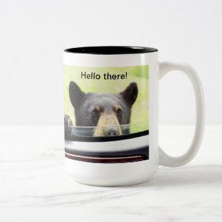 """Hello there!"" Black Bear Mug"
