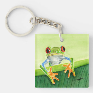 Hello There Frog Key Chain
