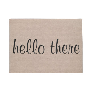 Hello there funny quote saying hipster humor burla doormat