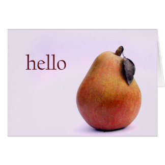 Hello There Pear Card