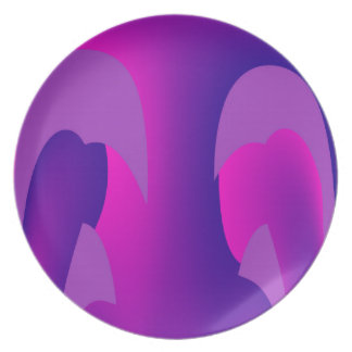 Hello There Purple Melamine Plate