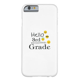 Hello Third Grade  3rd Emoji Funny Gifts Barely There iPhone 6 Case