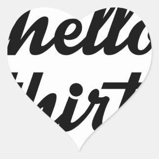 Hello Thirty Heart Sticker
