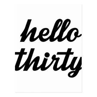 Hello Thirty Postcard