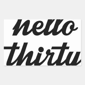 Hello Thirty Sticker
