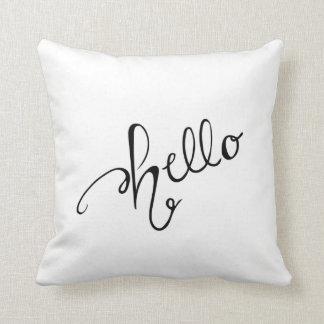 Hello Throw Pillow