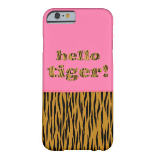 Hello Tiger! Fun Hot Pink & Tigerprint iPhone case