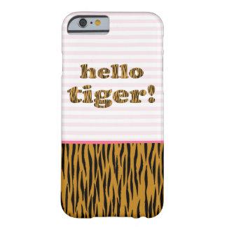 Hello Tiger! Pink Stripes & Tigerprint iPhone case