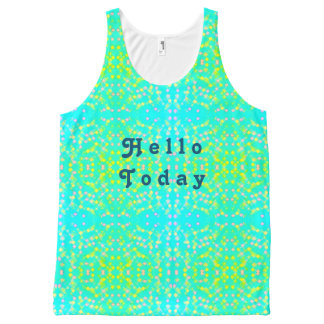Hello today All-Over-Print tank top