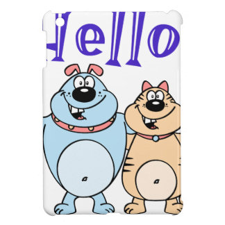 hello, two cute cartoons design iPad mini cover