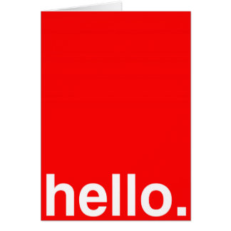 HELLO Typography Greeting Cards