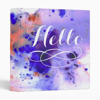 Hello | Watercolor Binder