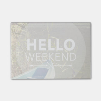 Hello Weekend 4 Sticky Notes