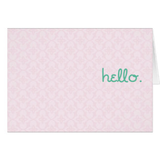 hello. what's new? card