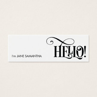 Hello! White Business Card