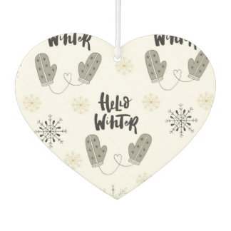 Hello Winter Pattern Air Freshener