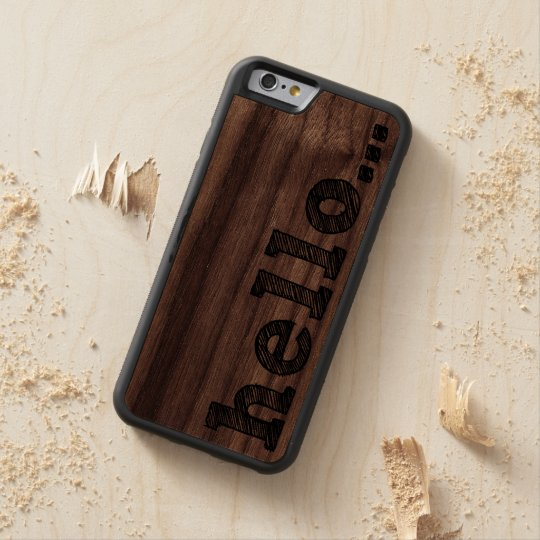 HELLO | Wood iPhone 6 Cases