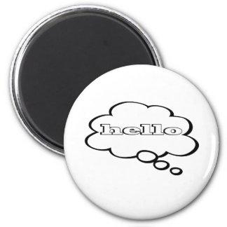 Hello Word Bubble Magnet