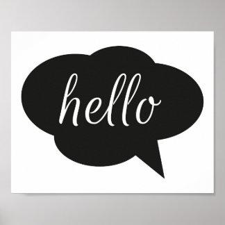 Hello Word Bubble Print