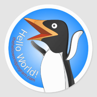 Hello World! Adelie the Penguin Sticker