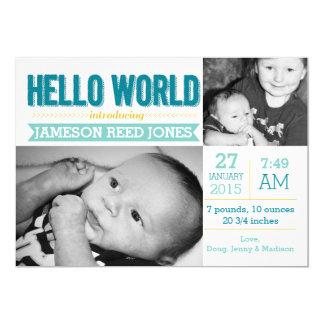 Hello World Birth Announcement