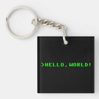 Hello World Computer Programming Keychain