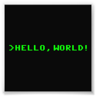 Hello World Computer Programming Photographic Print