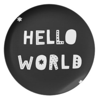 Hello World - Cool kids Plate