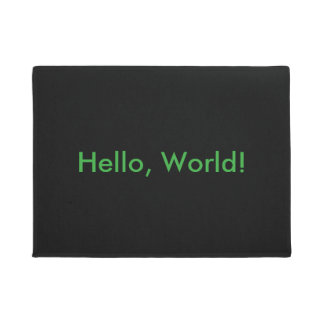 Hello, World! door mat