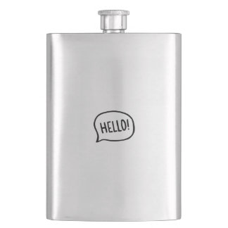 Hello! World! I am here Hip Flask