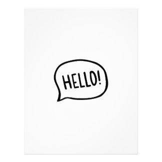 Hello! World! I am here Letterhead