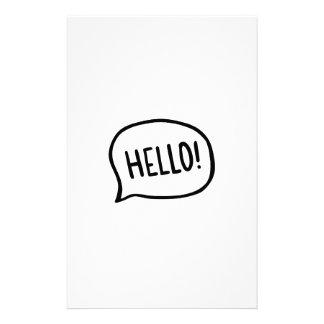 Hello! World! I am here Stationery