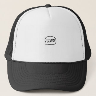 Hello! World! I am here Trucker Hat