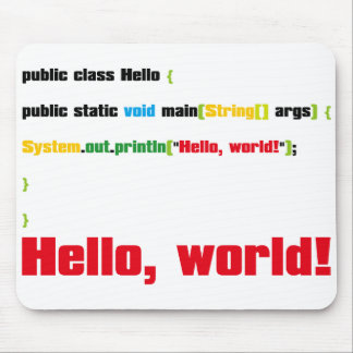 Hello, World! Mouse Pad