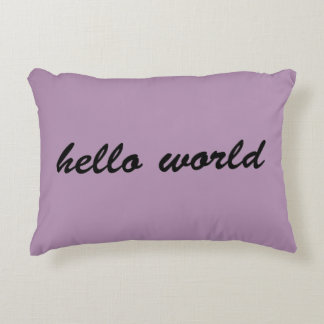 Hello World pillow