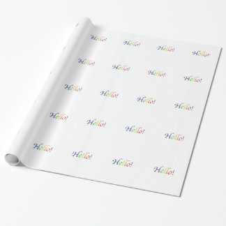 hello! wrapping paper