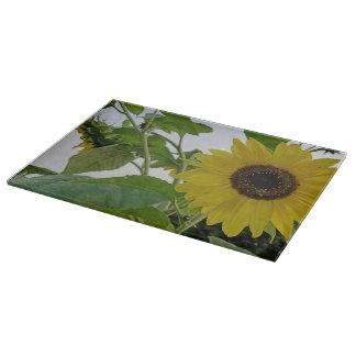 Hello Yellow Sunflower Cutting Board