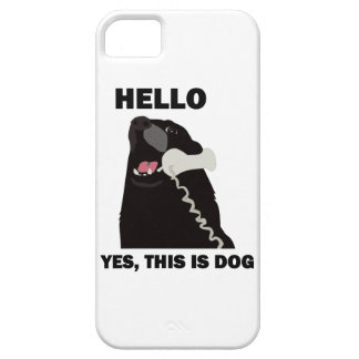 HELLO YES THIS IS DOG iPhone 5 CASE