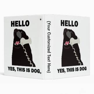 HELLO YES THIS IS DOG telephone phone 3 Ring Binder