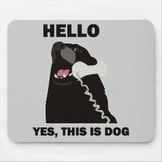 HELLO YES THIS IS DOG telephone phone Mouse Pad