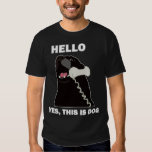 HELLO YES THIS IS DOG telephone phone Tee Shirt