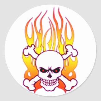 Hell's Flames Classic Round Sticker