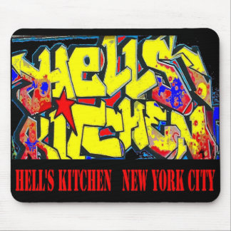 Hell's Kitchen NYC Street Graffiti Mouse Pad