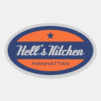 Hell's Kitchen Oval Sticker