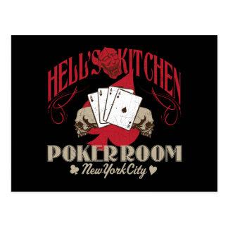 Hells Kitchen Poker Room, New York City Postcard