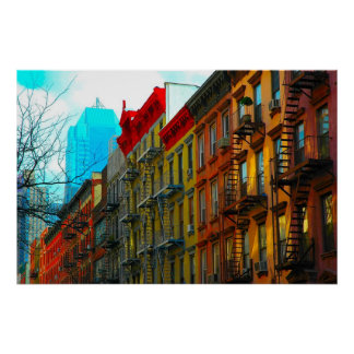 """Hells Kitchen Street"" by Urban Gorilla ArtWorks  Poster"